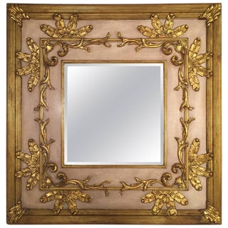 Mid 20th Century Vintage Friedman Brothers Gilt and Beveled Glass Mirror For Sale