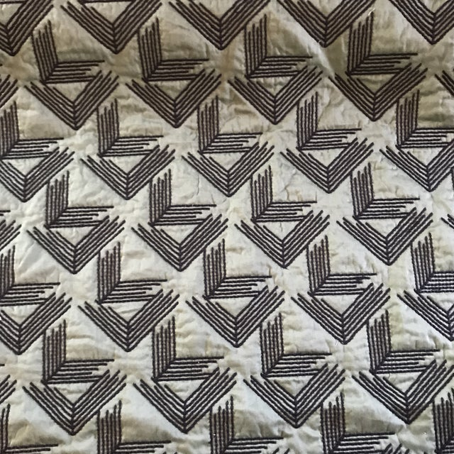 Miles Redd Miles Redd for Schumacher V Step in Loden Fabric- 2 Yards For Sale - Image 4 of 6