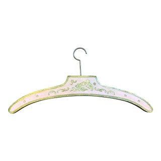 1950s Italian Pink/Gold Florentine Wooden Hanger For Sale