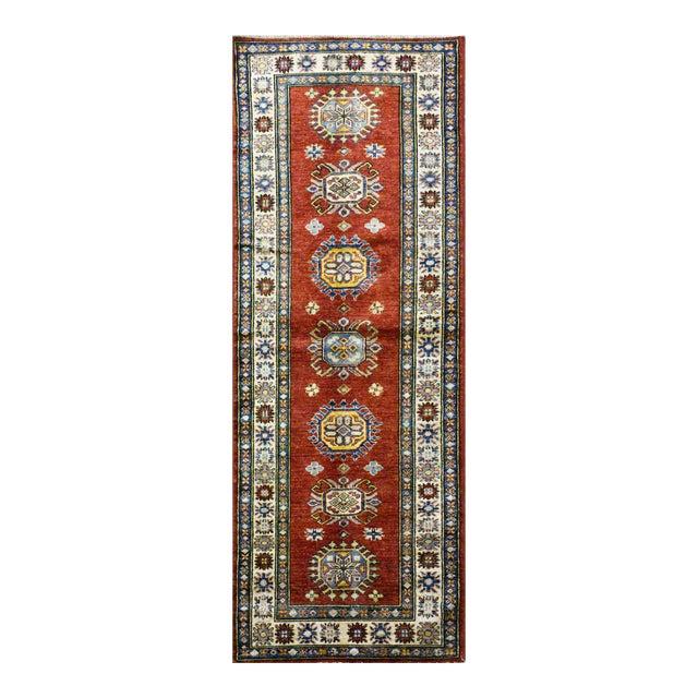 Afghan Kazak Wool Rug - 2'9'' X 8'7'' For Sale