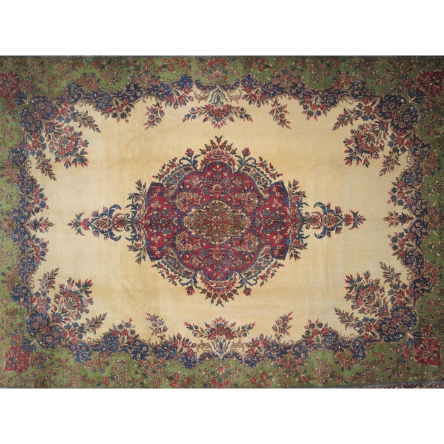 "Lavar Kerman Carpet - 9'6"" X 13'5"" - Image 3 of 7"