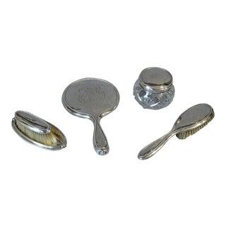 Sterling Silver Dresser Set - 4 Peces For Sale