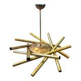 Image of 1950sItalian Mid-Century Modern Stilnovo Brass 16-Light Sputnik Chandelier For Sale