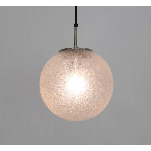 1970s One of 20 Globe Pendant Lamps by Glashütte Limburg For Sale - Image 5 of 5