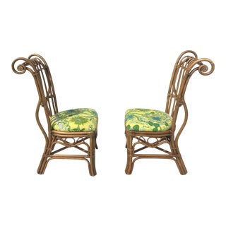 Accent Bamboo Chairs on the Style of Tonet a Pair. For Sale