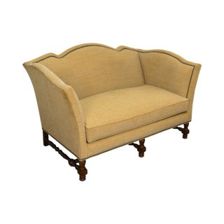 Wesley Hall William & Mary Style Custom Loveseat For Sale