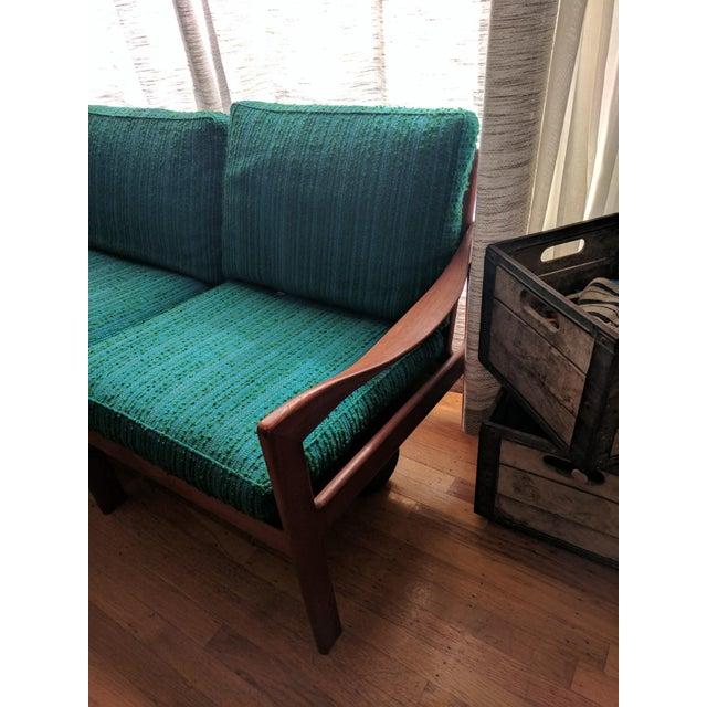 Vintage Modern Danish Teak Parlor Couch - Image 5 of 5