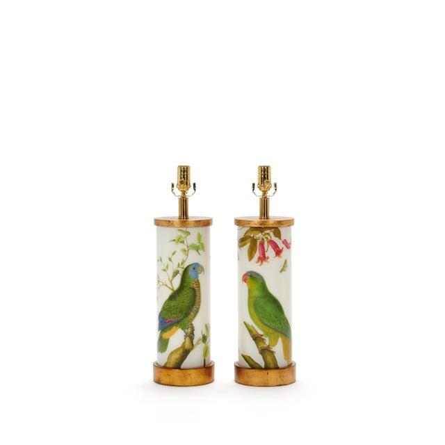 2020s Eden Parrots Table Lamps by Liz Marsh Designs - a Pair For Sale - Image 5 of 5