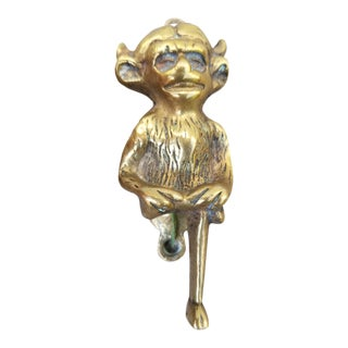 Vintage Brass Devil Door Knocker For Sale
