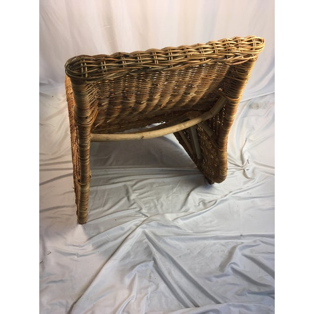 1970s 1970s Vintage Wicker Chaise Lounge For Sale - Image 5 of 9