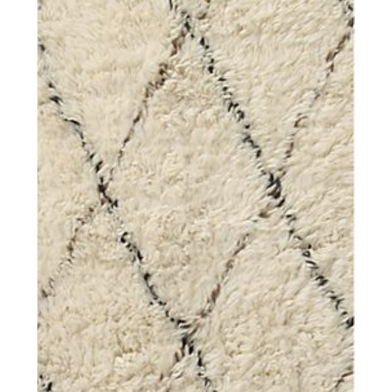 "Anthropologie Amala Flokati Rug 1.5"" high pile 100% wool hand knotted soft, neutral, natural rug"