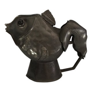 Antique Chinese Figural Koi Fish Teapot For Sale