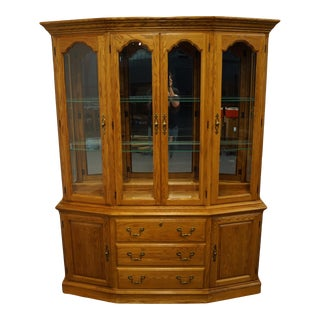 Pennsylvania House Oak Country French China Cabinet For Sale