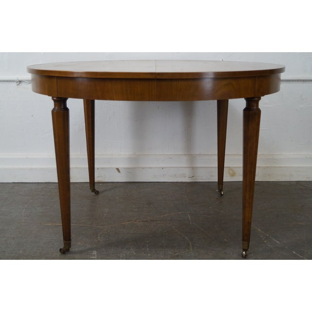 Kindel Vintage Regency Directoire Style Round Extension Dining Table - Image 5 of 10