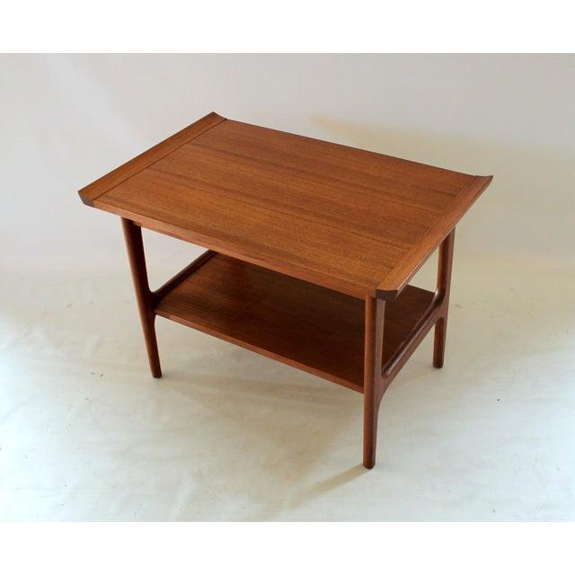 1960s Japanese Modern Teak End Side Table In The Style Of Finn Juhl