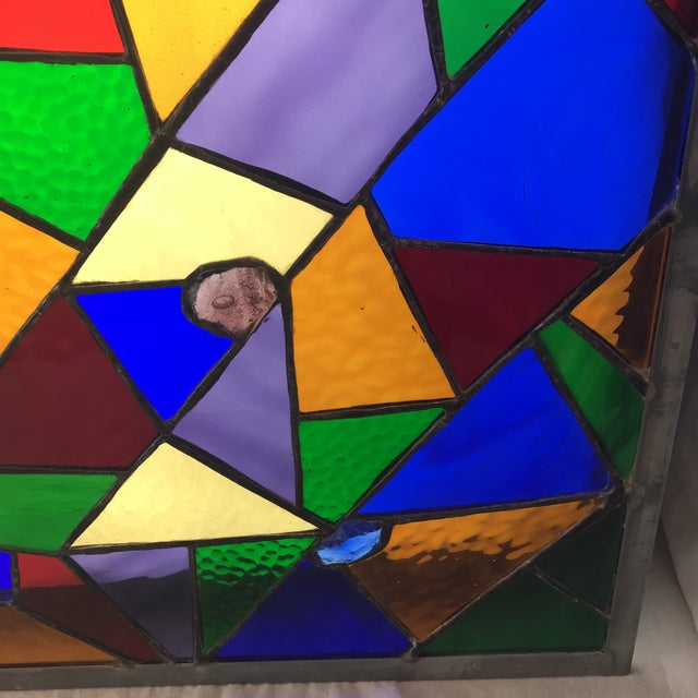 Square Rainbow Stained Glass For Sale In New York - Image 6 of 7