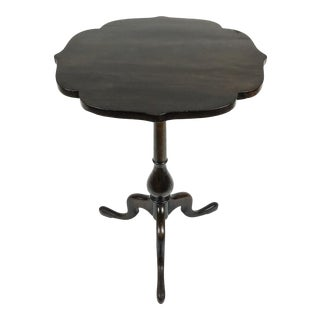 Queen Anne Style Mahogany Tilt Top Table For Sale