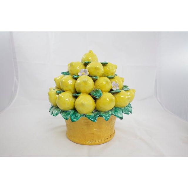 White Italian Terracotta Lemon Topiary For Sale - Image 8 of 9