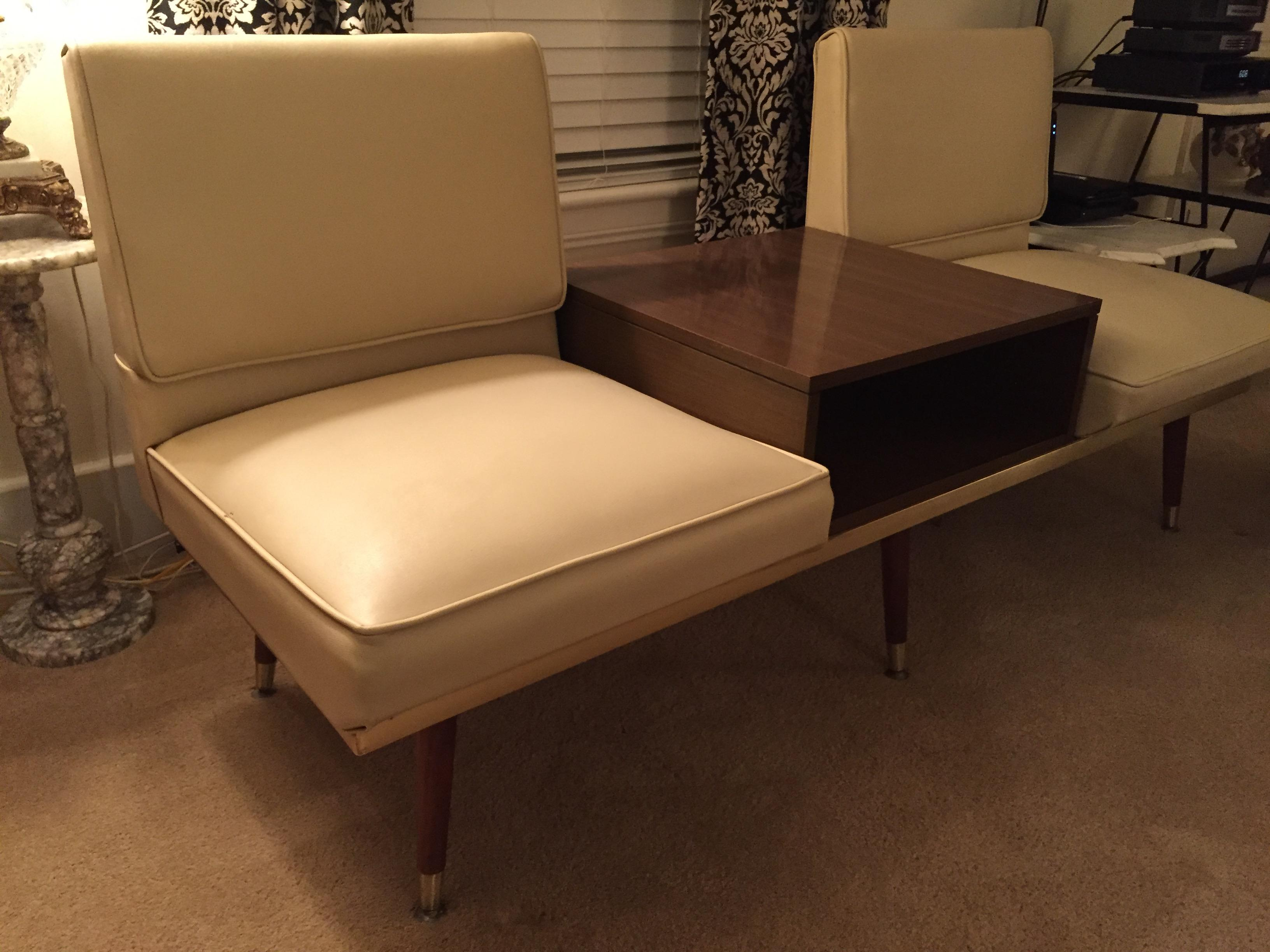 Murphy Miller Kroehler Midcentury Two Seat Sofa Bench With Center