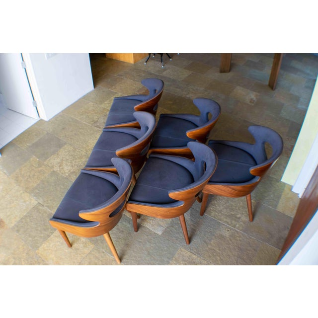 Thomas Bina Tatiana Reclaimed Canvas Dining Chairs - Set of 6 For Sale - Image 4 of 7