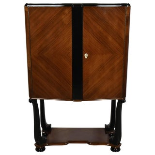 Taditional French Lacquered Art Deco Style Bar Cabinet For Sale