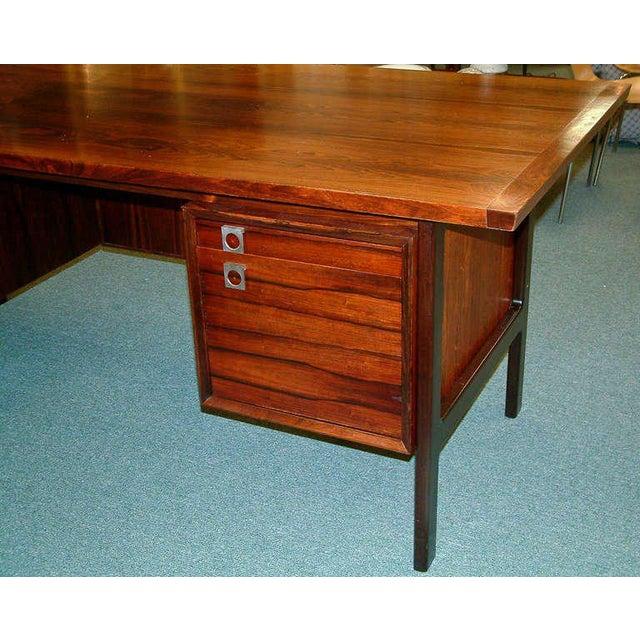 Arne Vodder Rosewood Executive Desk - Image 3 of 10