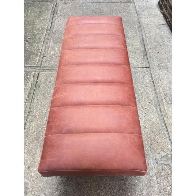 Upholstered Garrett Leather Bench - Image 3 of 7