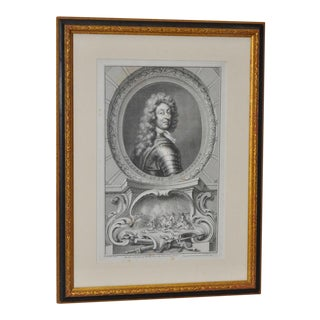 Antique Engraving of the Duke of Schomberg For Sale