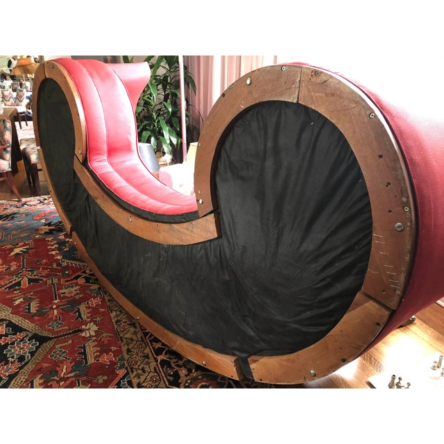 Wood Mid-Century Curved Dunbar Oasis Sofa by Edward Wormley For Sale - Image 7 of 9