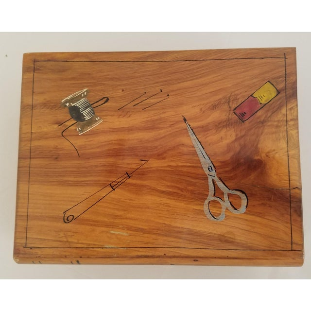 Late 19th Century English Olive wood Sewing Spool Box. Spool boxes were used for storing one's sewing supplies. This...