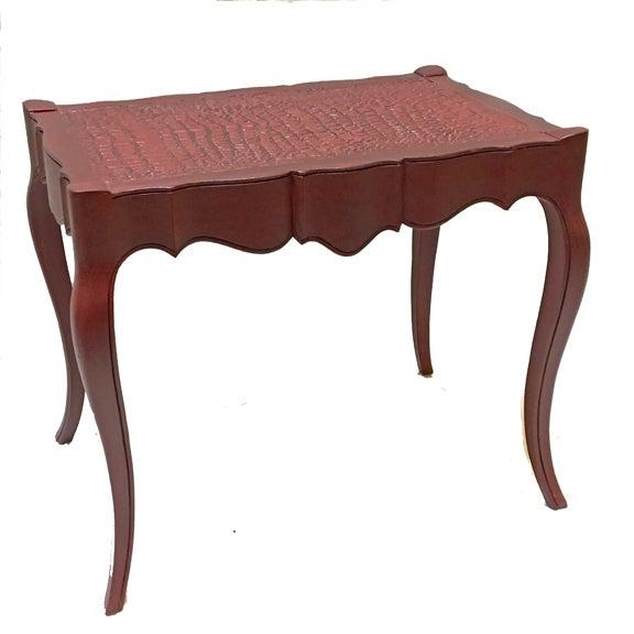 Vintage Burgundy Side Table For Sale