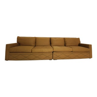 Diamond Hatch Pattern Golden Sofa Sectional For Sale