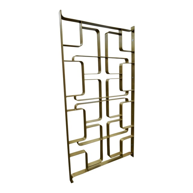 Brass and Steel Room Dividers or Gates - a Pair For Sale