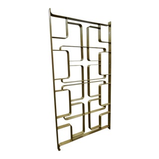 Brass+Steel Pair of Room Dividers or Gates For Sale