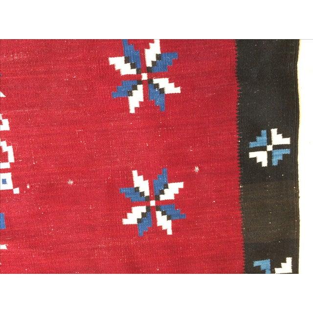 Vintage Southwest Saltilo Serape Rug - 4′10″ × 6′8 - Image 8 of 10