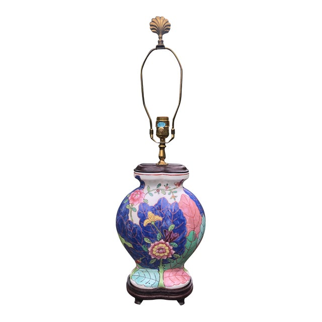 Chinoiserie Vintage 1960s Tobacco Leaf Lamp by Champion Lamps For Sale - Image 3 of 6