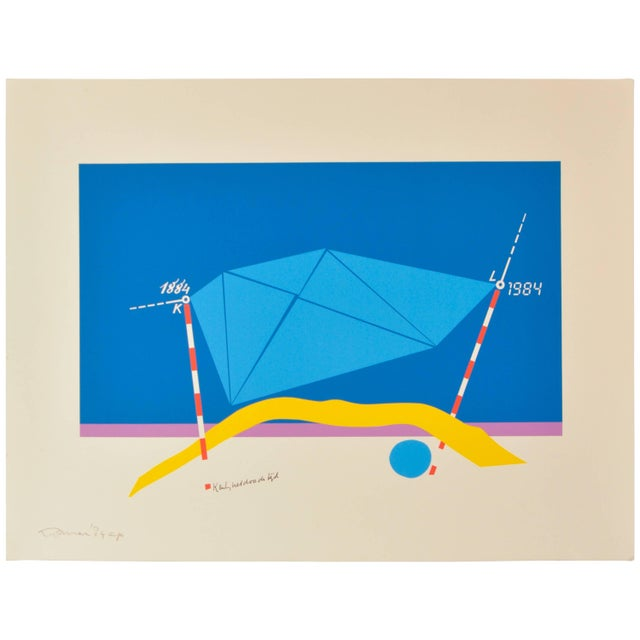 Mid-Century Modern Jan Loman, Signed Ap Lithograph For Sale - Image 3 of 3