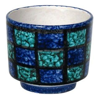 Mid-Century Teal & Blue Cachepot