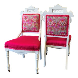 18th Century Antique Eastlake Chairs - A Pair For Sale