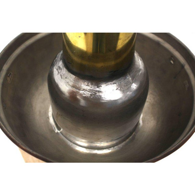 Mid-Century Modern Copper and Brass Coal Burning Food Warmer Removable Chimney Samovar For Sale - Image 3 of 9