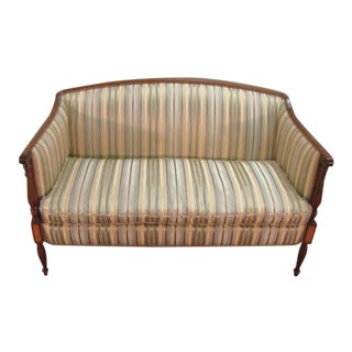 1980s Vintage Hickory Chair Sheraton Style Settee For Sale