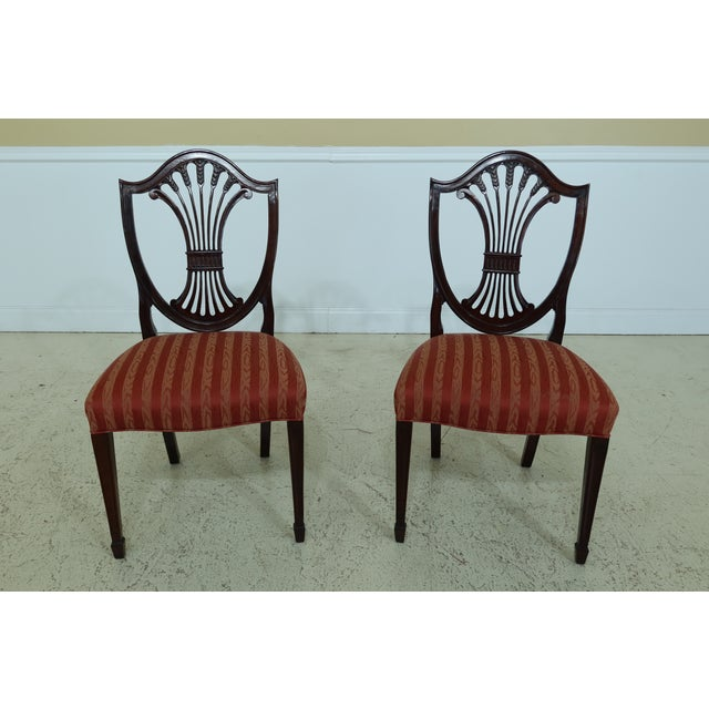 Wood Stickley Shield Back Mahogany Dining Room Chairs - Set of 6 For Sale - Image 7 of 13