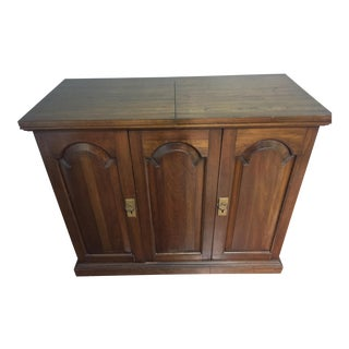 Mid-Century Solid Wood Cabinet