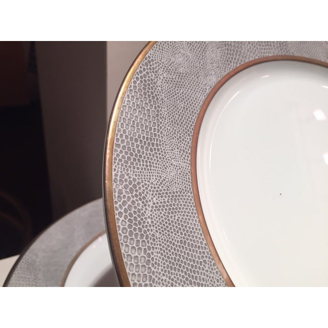 Bernardaud Sauvage Pattern Dinnerware Set of 8 Dinner and Salad (Or Dessert) Plates For Sale - Image 12 of 13