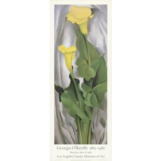 Georgia O'Keeffe- Yellow Calla- Green Leaves For Sale