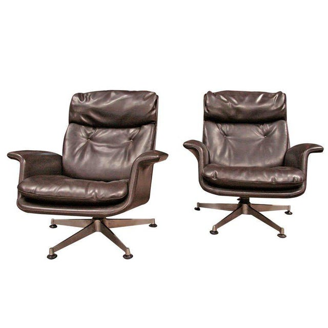 Italian 1970 Swivel Armchairs by Anonima Castelli For Sale - Image 11 of 11