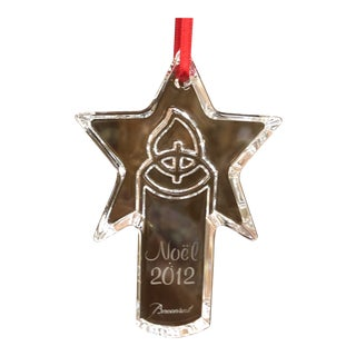 2012 Baccarat Noel Ornament For Sale