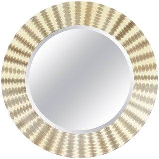 Snake Skin Round Mirror by Fabio Ltd For Sale