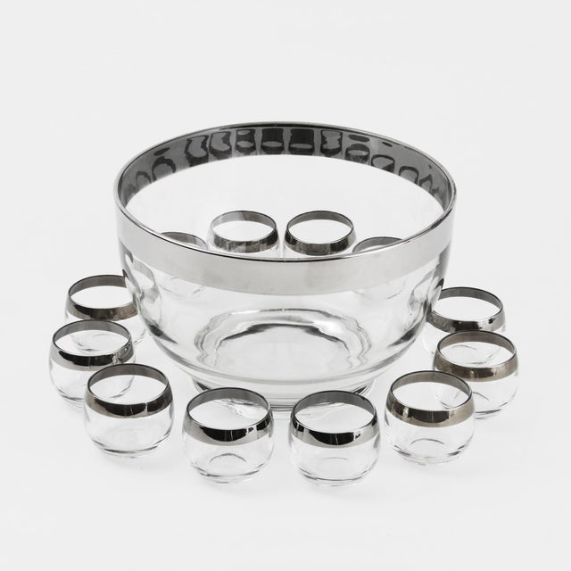 1960s Mid-Century Modern Dorothy Thorpe Style Roly Poly Punch Bowl & Glasses - 13 Piece Set For Sale In Philadelphia - Image 6 of 6