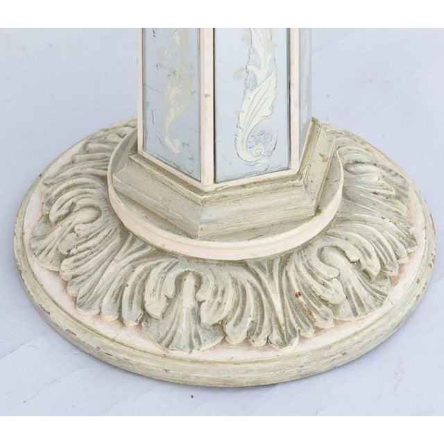 1940s Italian Églomisé Occasional Pedestal Table For Sale - Image 5 of 12